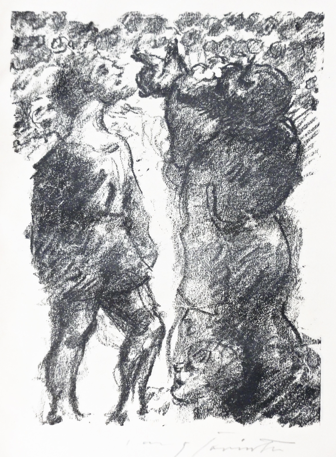 Lovs Corinth, Choosing of saul, lithograph