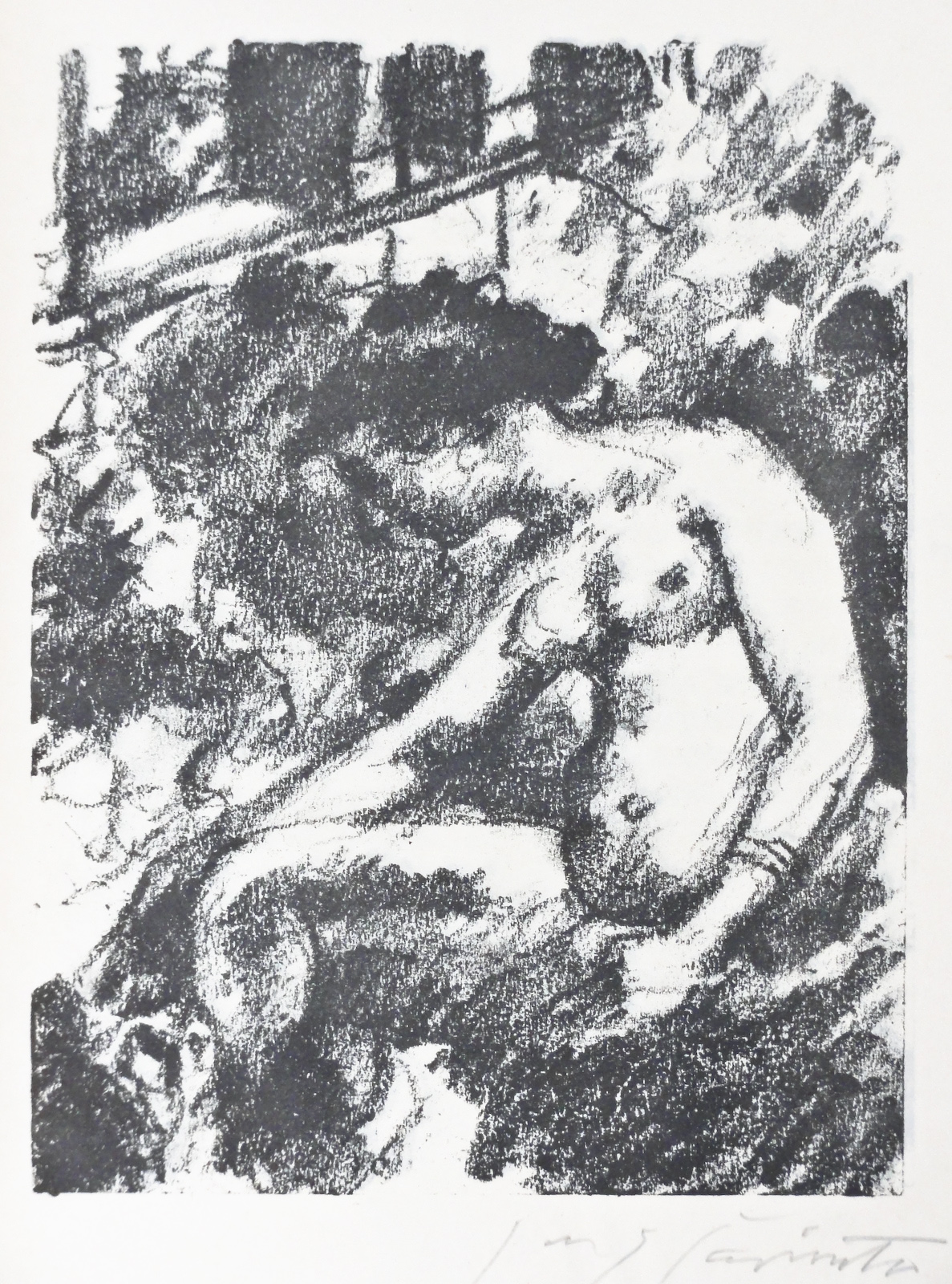 Bathsheba,  from Saul und David, lithograph, M764