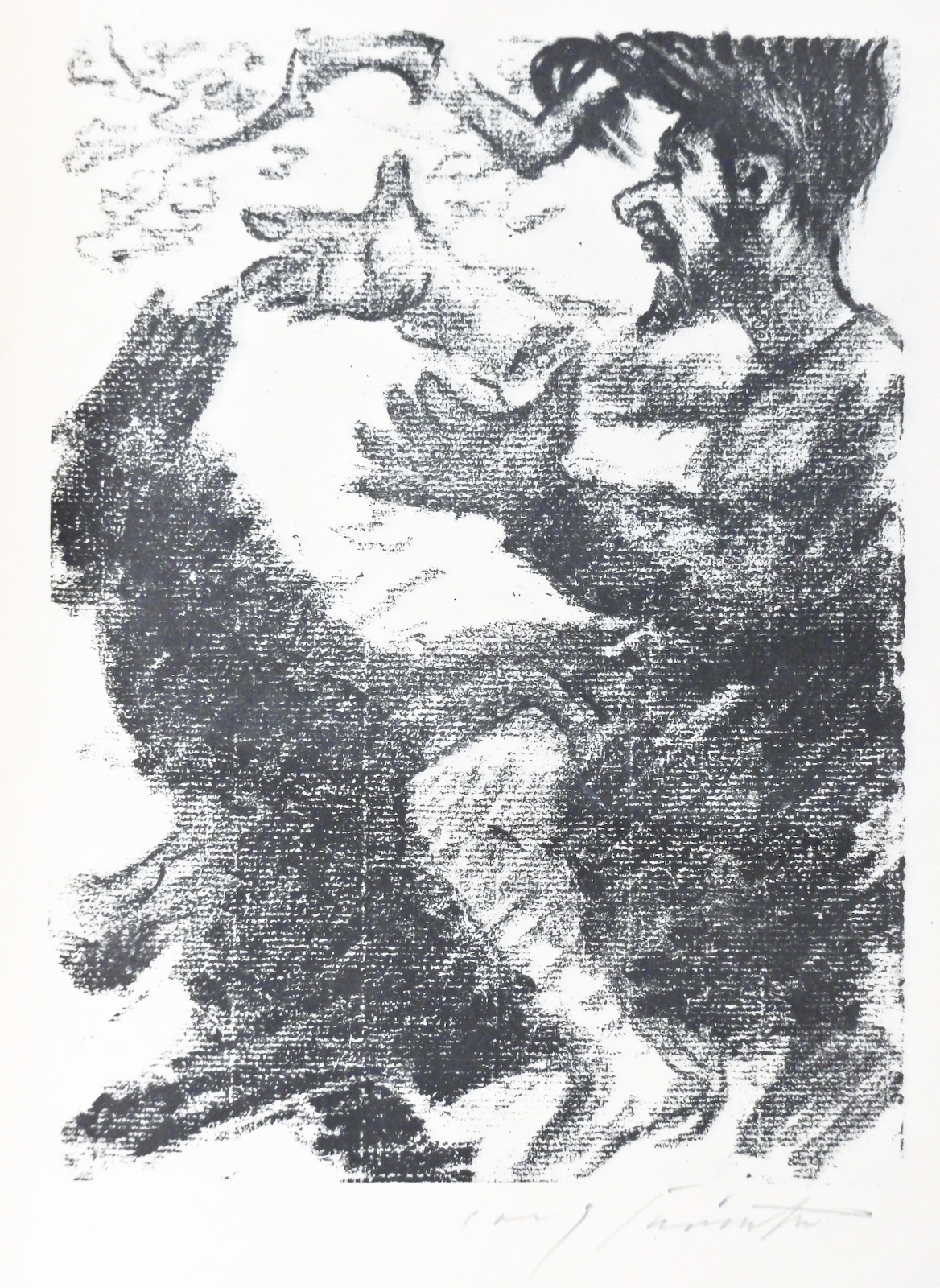 from Saul und David, lithograph, M754