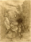 Camille Corot, glass print, Saltarelle