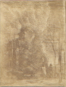 Corot, Dante and Virgil, cliché verre