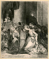 Eugène Delacroix, Margaret at the Church, lithograph
