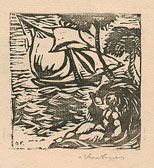Othon Friesz, The Ship, woodcut