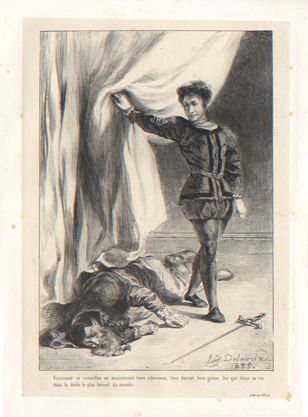 Hamlet, Eugne Delacroix's lithographs, published by Gihaut ...