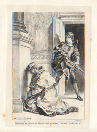 Hamlet attempts to kill the King