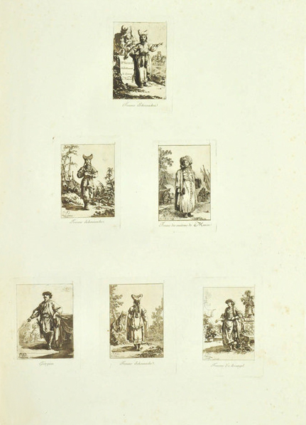 Le Prince, Deuxième Suite d'Habillents, etchings with aquatint