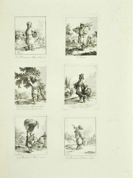 Le Prince, Troisième Suite de Divers Cris, etching with aquatint