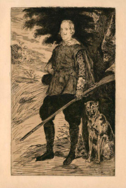 Edouard Manet, Philip IV, King of Spain, etching