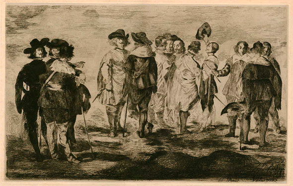 Edouard Manet, The Little Cavaliers, etching