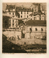 Charles Meryon, The Morgue, etching
