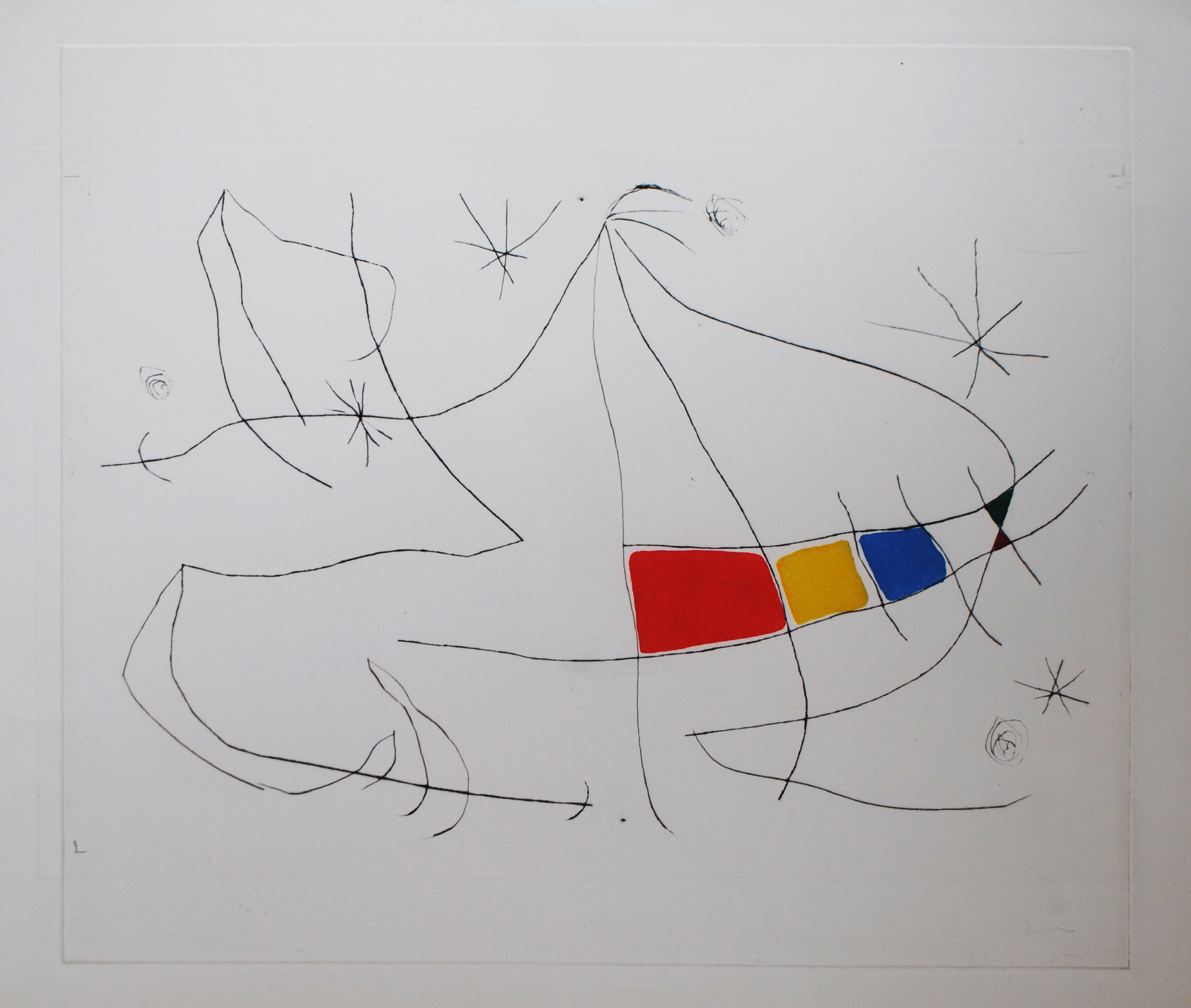 Miro, L'Issue Dérobée, D691, drypoint and aquatint, trial proof