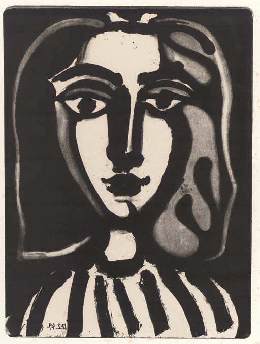 Picasso, Jeune Fille, lithograph