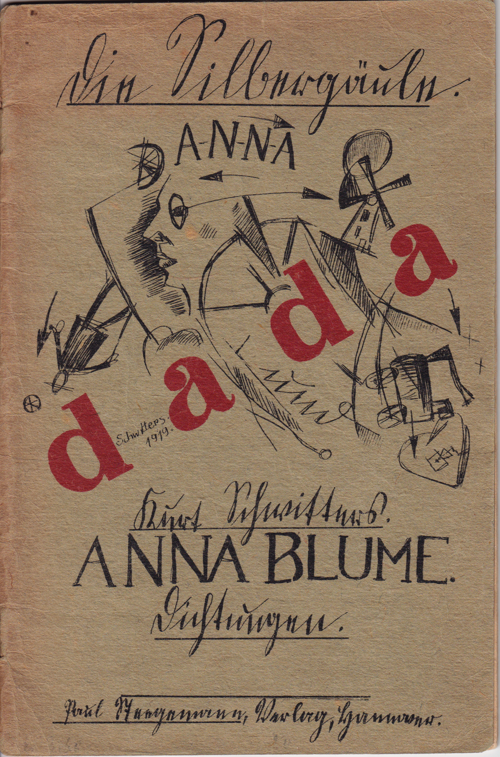 Schwitters, Anna Blume, cover, first edition