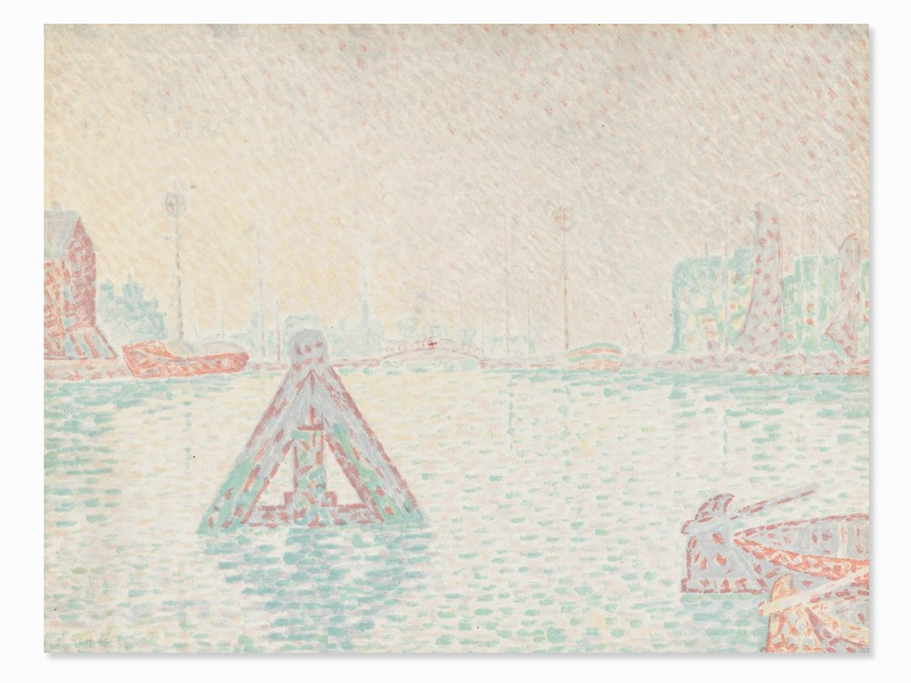 Paul Signac, En Hollande, color lithograph, 1894