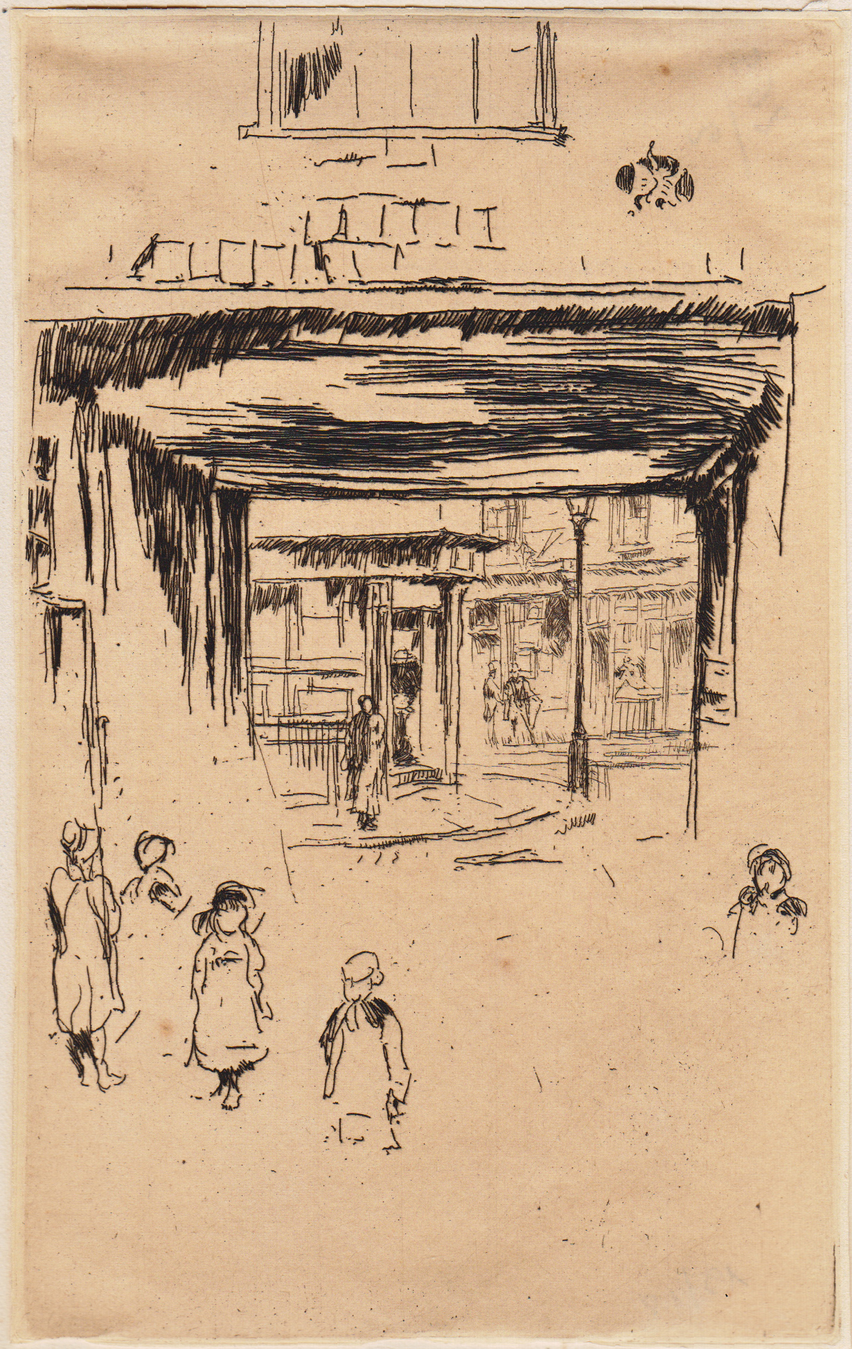 Whistler, Drury Lane, etching, 1880-1881