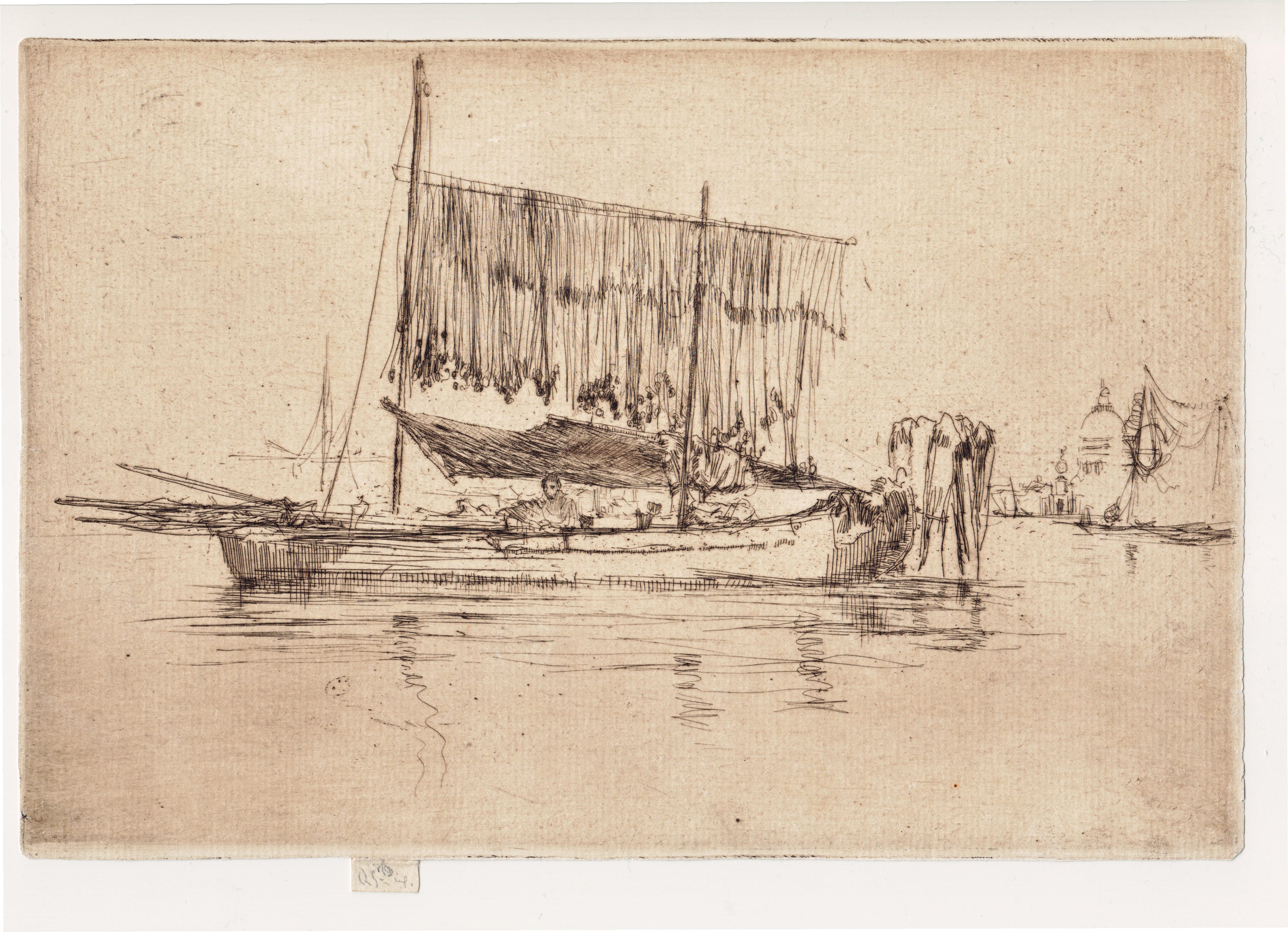 James McNeill Whistler, Fishing Boat, etching, 1879-1880